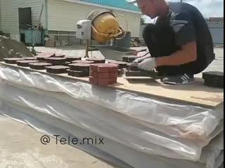 Как изготавливают тротуарную плитку
