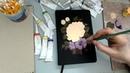 Минутки вдохновения. Видео дневник художника. Розы на обложке