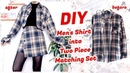 Refashion DIY Men's Shirt into Two Piece Matching Set / ファッション 古着リメイク / 옷리폼 / COSTURAㅣmadebyaya