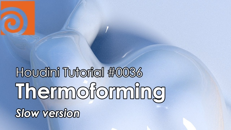 [Houdini Tutorial] 0036 Thermoforming (Slow version)
