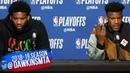 Joel Embiid & Jimmy Butler Postgame Interview   Game 7   76ers vs Raptors   2019 ECSF