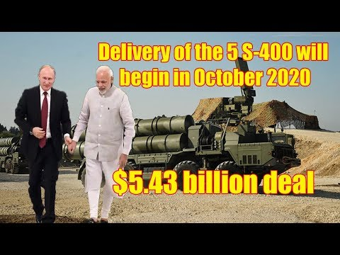 India inks $5.43 billion deal to buy S-400 Triumf missiles from Russia