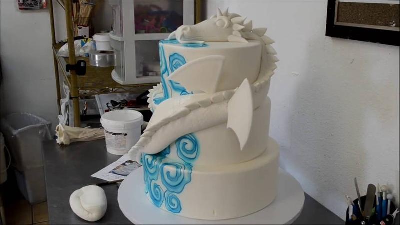 Украшение тортов | Украшение торта на день рождения с драконом