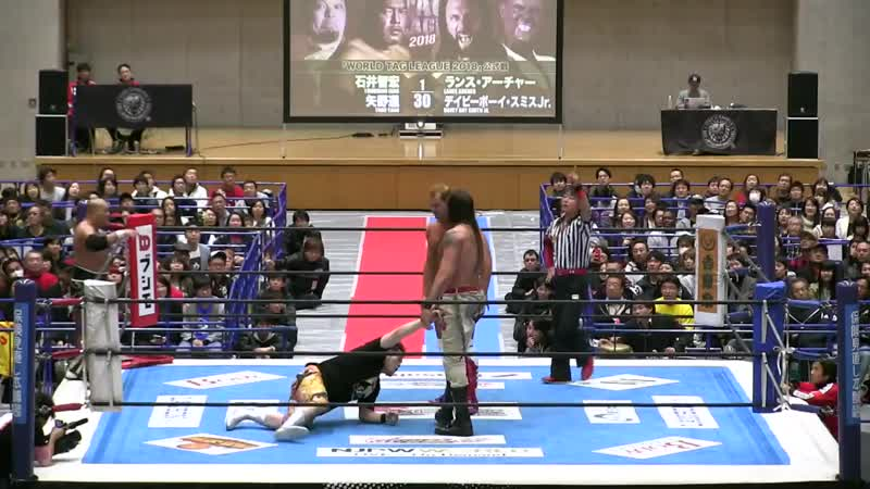 [My1] NJPW World Tag League 2018 (День 6) - Tomohiro Ishii Toru Yano vs. KES (Davey Boy Smith Jr. Lance Archer)