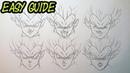 How to Draw VEGETA 'FACIAL EXPRESSIONS' Dragonball art
