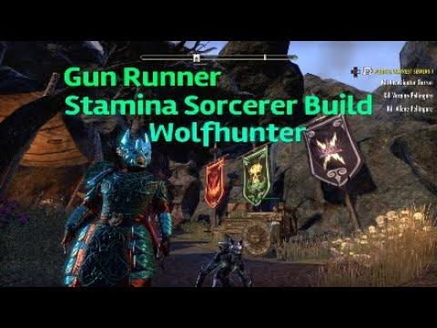 ESO Gun Runner - Stamina Sorcerer PvP Build for Wolfhunter