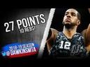 LaMarcus Aldridge Full Highlights 2018.11.10 Spurs vs Rockets - 27 Pts, 10 Rebs!   FreeDawkins