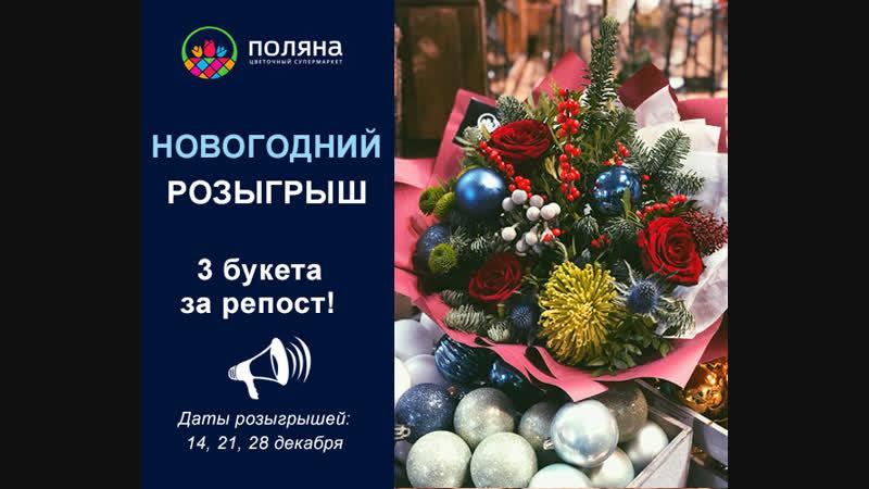 1 этап новогоднего розыгрыша Поляна