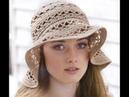 Вязаная летняя панамка шапочка крючком Knitted hat tutorial