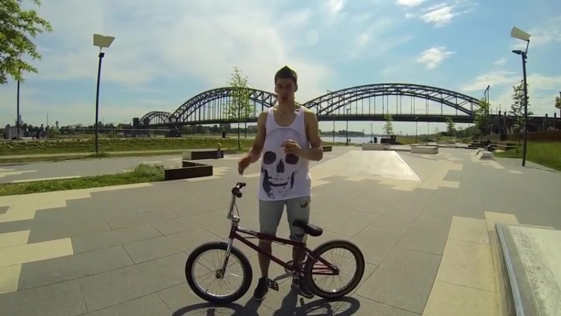 How to Bunny Hop on a BMX Bike - Как сделать Банни-хоп [Дима Гордей] _ Школа BMX_HIGH.mp4