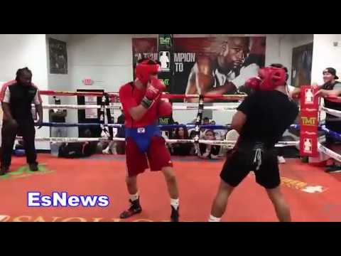 Rolando Romero Sparring Ryan Garcia At Mayweather Boxing Club - EsNews Boxing