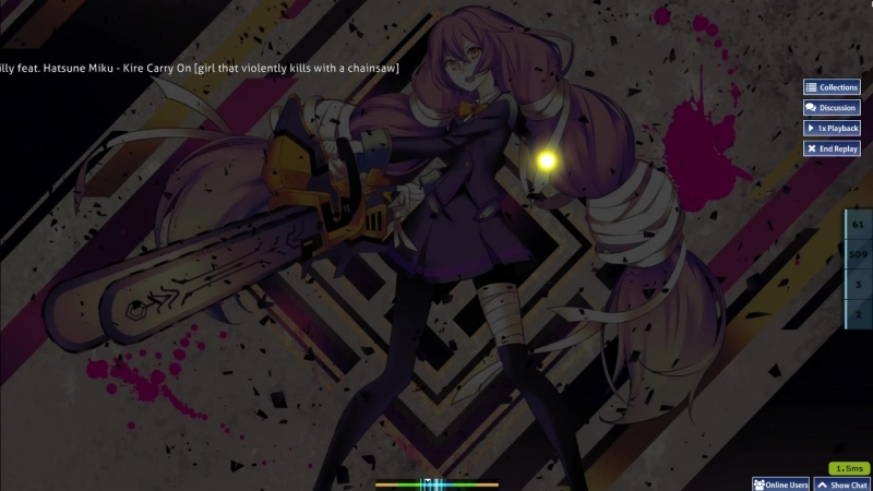 Police Piccadilly feat. Hatsune Miku - Kire Carry On (Sinnoh) [girl that violently kills with a chainsaw] OSU play
