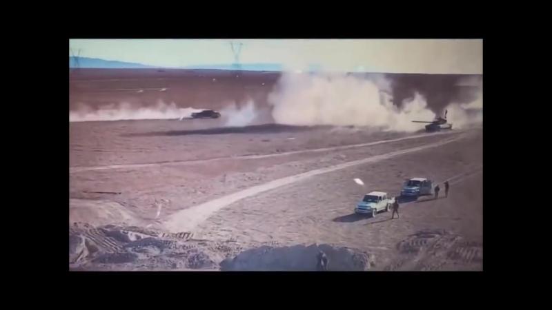 Сирия_ дрон снял дуэль танка и «джихад мобиля»