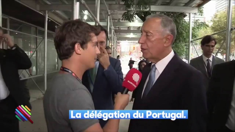 French journalist Vs Portuguese President