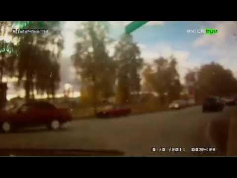 Момент ДТП в Новочебоксарске