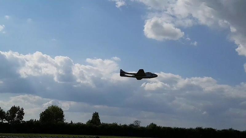 De Havilland Vampire flyby