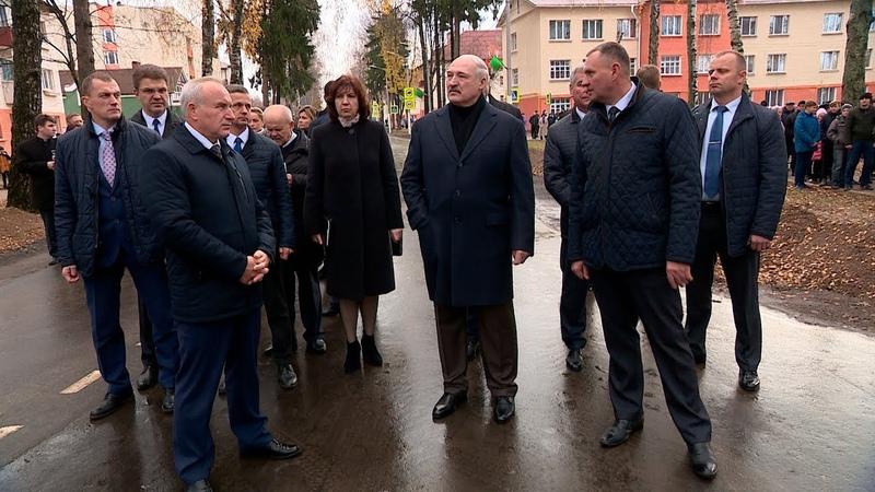 Лукашенко посетил городской поселок Болбасово в Оршанском районе