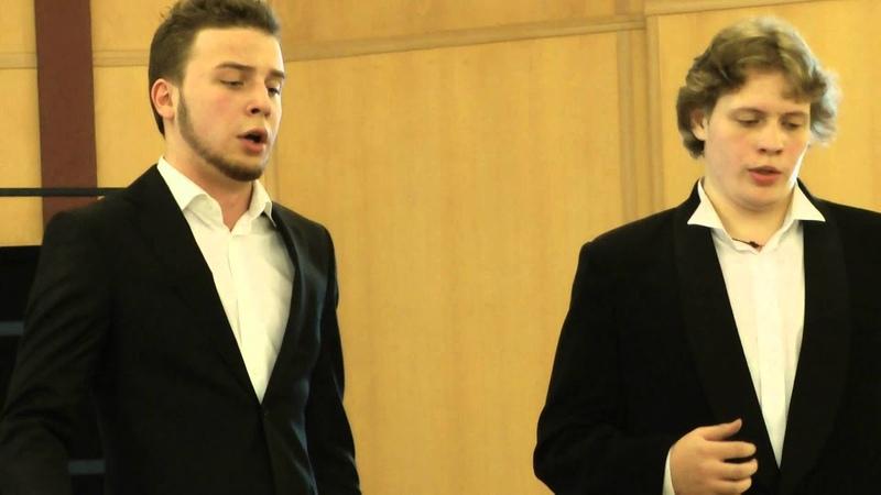 Arseny Yakovlev, tenor (19 years old) , Swjatoslav Manujlov, bass (20 y. o.) - Shodis' , beris' ...