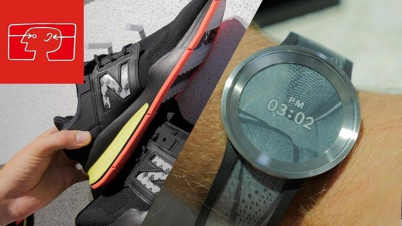 FES Watch U New Balance Sneaker Sony zeigt Kleidung mit E Ink Displays