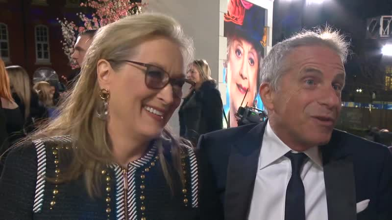 Meryl Streep and Marc Platt at Mary Poppins Returns premiere in London