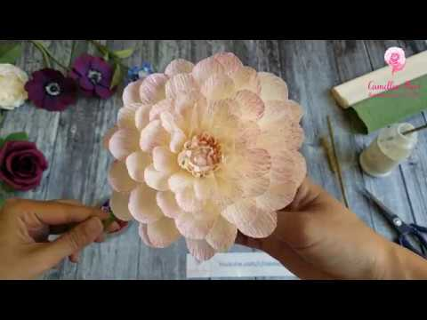 Dahlia paper flower DIY tutorial step by step