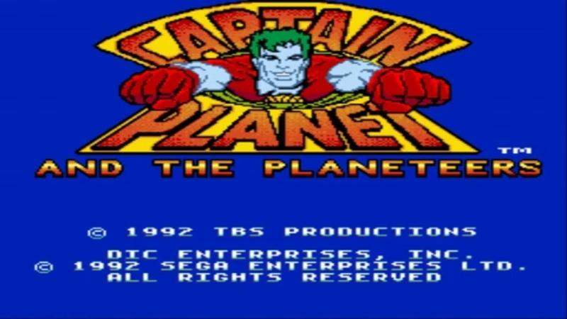Captain Planet and the Planeteers SEGA Прохождение