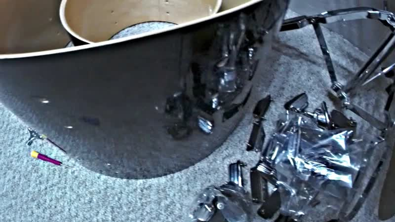 Rogers Drum Kit - Re Wrap (before and after) - Brook Mays Kit
