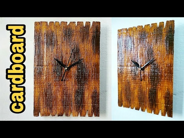 How to make wooden style wall clock very easy