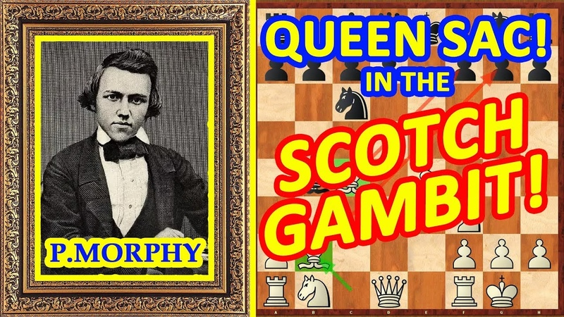 Chess TRAPS in the Scotch Gambit opening! ♔ Paul Morphy ♕ QUEEN Sac!