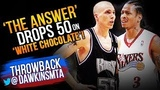 Allen Iverson Drops 50 On 'White Chocolate' Jason Williams &amp Kings - 2000.02.06 - AI With 50-9-6!