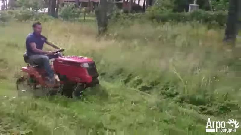 Садовый трактор MTD Smart RF 125 в работе