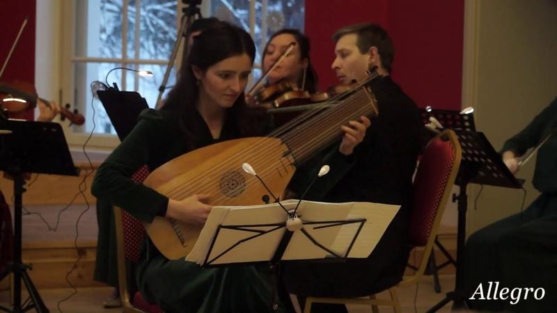 Karl Kohaut - Concerto per il liuto, due violini violoncello F-dur. Marina Belova - lute