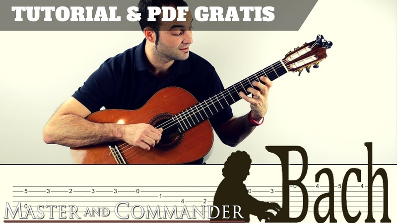 BACH CELLO SUITE N. 1 | TUTORIAL PDF GRATIS | TABS | B.S.O. Master Commander