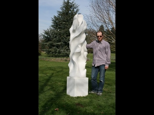 Carving tutorial of a 700kg white marble sculpture Part 2 by Frederic Chevarin