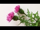ABC TV How To Make Scottish Thistle Paper Flower Flower Die Cuts Craft Tutorial