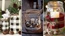 ❤DIY Farmhouse style Christmas Mason Jar decor Ideas❤ | Christmas Home decor| Flamingo Mango