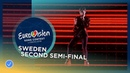 Benjamin Ingrosso Dance You Off Sweden LIVE Second Semi Final Eurovision 2018