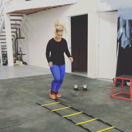 "Paige VanZant on Instagram ""I thank @dancingabc for my quick feet 😜 haha ladder drills Who thinks they can go faster Tag a friend below and g..."