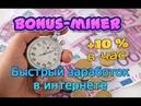 Как быстро заработать деньги в интернете 2019 bonus miner