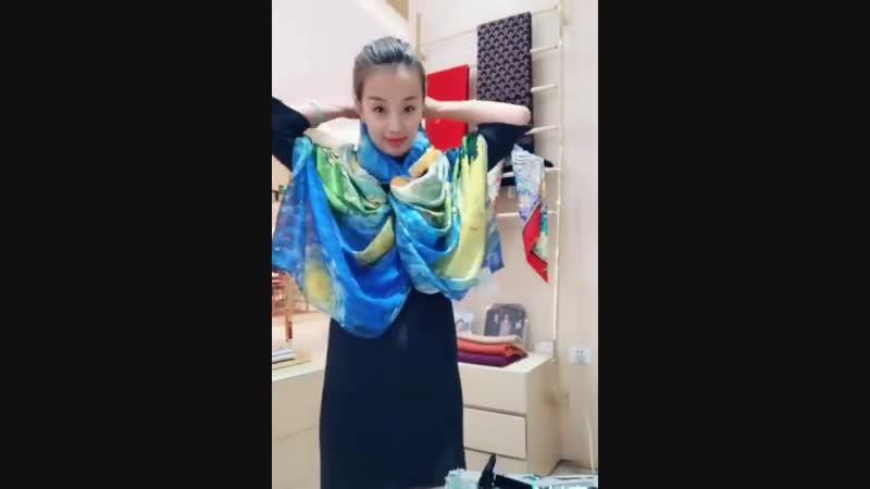 Как делать и носить шарфы