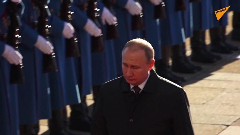 Putin i Vučić uz crkvena zvona i plotune stižu pred Palatu Srbija