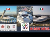 UNITED 2026 North America World Cup Stadiums and 16 Host Cities
