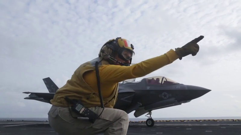 F 35B Lighting II Stealth Operating in U S 5th Fleet Area USS Essex LHD 2 F35B USSEssexLHD2 HD