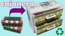 Cajonera de cartón con cajas de zapatos Reciclar caja de zapatos
