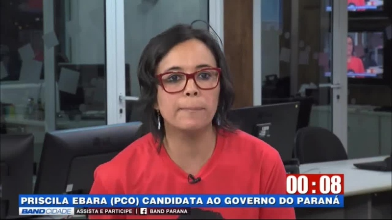 Priscila Ebara (PCO), candidata ao governo do Paraná, comete gafe ao vivo