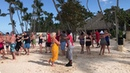 Merengue dance class at Bavaro beach in Punta Cana