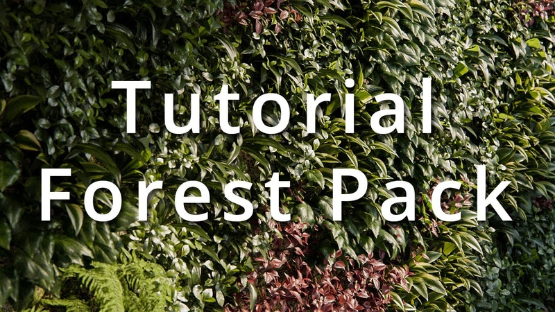 Tutorial Muros verdes con Forest pack y V Ray