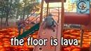 Манкиту играют в Пол Это Лава floor is lava МанкиБатл