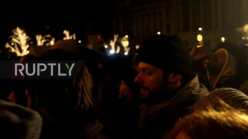 Hungary Protests hit Hungarian Parliament over 'slave law' labour bill