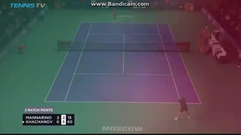 Чемпионский матч бол Хачанова на Кубке Кремля